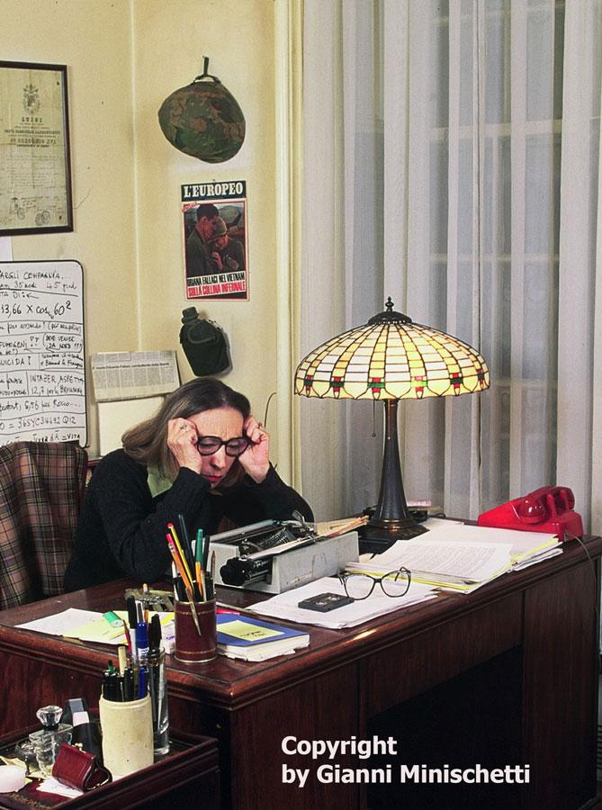 Oriana Fallaci in New York | Italpress � Agenzia